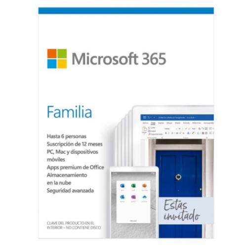 MICROSOFT 365 FAMILIA (1 A¥O DE SUSCRIPCIàN PARA 6 USUARIOS + 1TB EN ONE DRIVE) 6GQ-01220