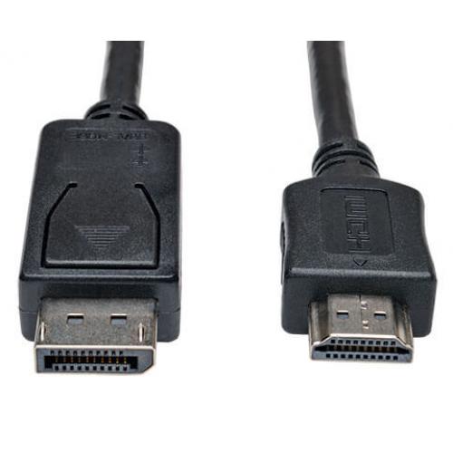 CABLE ADAPTADOR DISPLAYPORT 1.2 A HDMI, DP CON BROCHES A HDMI (M/M), UHD 4K, 1.83 M [6 PIES] TRIPP-LITE P582-006-V2