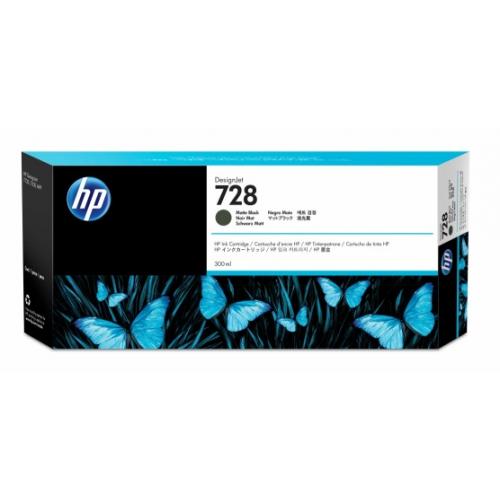 CARTUCHO HP 728 NEGRO MATE, 300ML