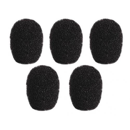 PARABRISAS SHURE PARA MICROFONOS TL / TH TWINPLEX (PAQUETE DE 5, NEGRO)